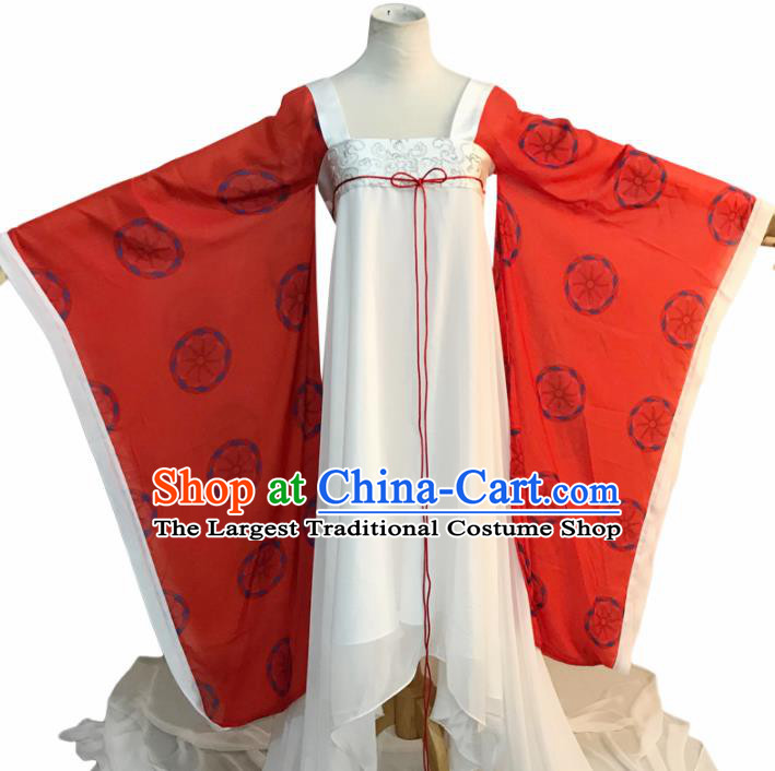 Chinese Ancient Tang Dynasty Imperial Consort Embroidered Costume for Women
