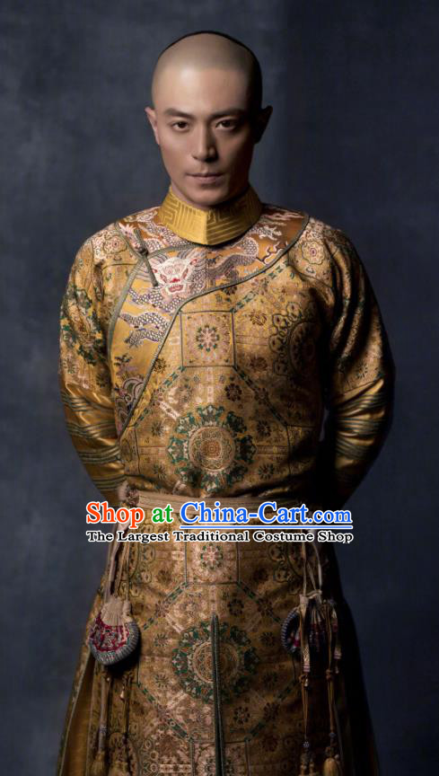 Ruyi Royal Love in the Palace Chinese Ancient Qing Dynasty Qianlong Emperor Costumes for Men