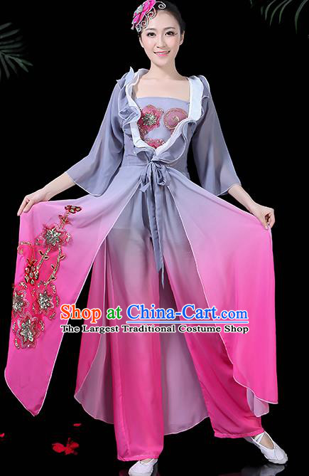 Chinese Classical Dance Costume Traditional Folk Dance Yangko Fan Dance Clothing for Women