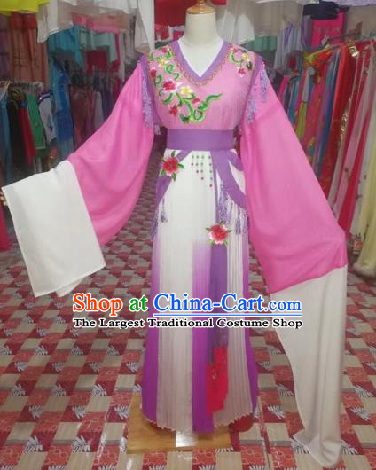Chinese Traditional Beijing Opera Princess Rosy Clothing Peking Opera Actress Costumes for Adults