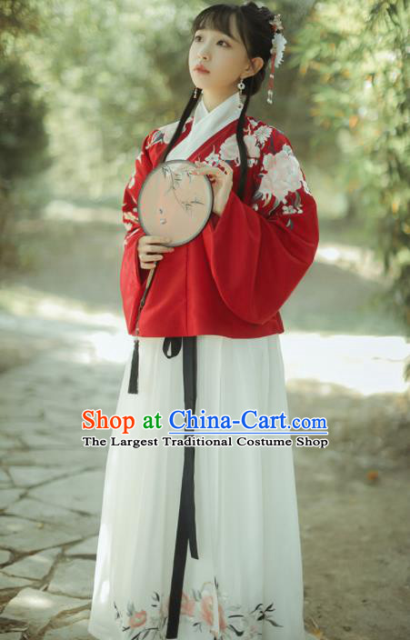 Chinese Traditional Historical Costumes Ancient Ming Dynasty Nobility Lady Hanfu Dress for Women