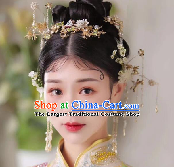 Top Chinese Traditional Wedding Hair Accessories Ancient Palace Hair Clips Hairpins Complete Set for Women