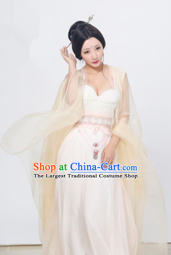 Chinese Ancient Drama Ming Dynasty Courtesan Hanfu Dress Imperial Consort Sexy Replica Costumes for Women