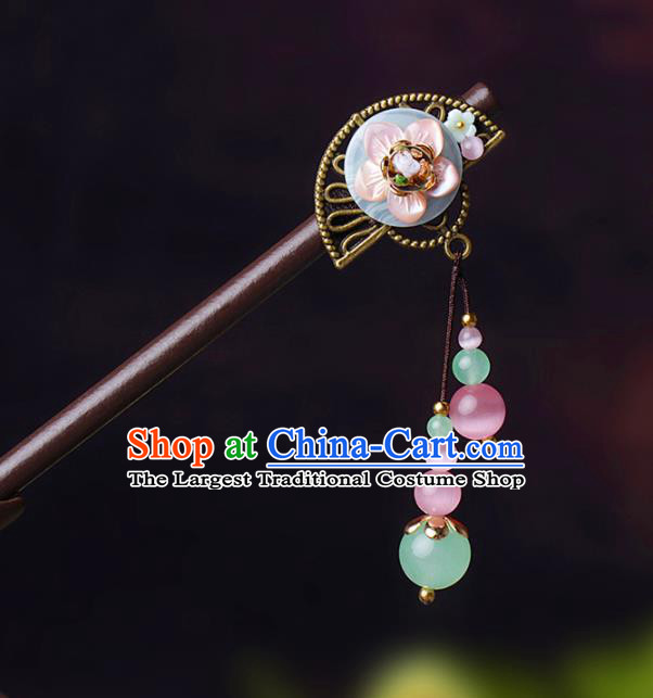 Chinese Traditional Hair Accessories National Hanfu Wood Hairpins for Women