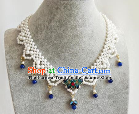 Chinese Traditional Necklace Traditional Classical Hanfu Jewelry Accessories for Women