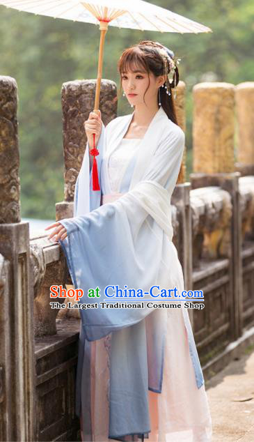 Chinese Ancient Nobility Lady Historical Costumes Traditional Tang Dynasty Princess Hanfu Dress for Women