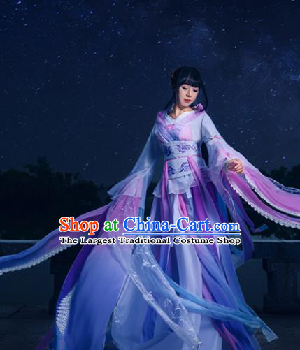 Traditional Chinese Song Dynasty Princess Costumes Ancient Cosplay Peri Swordswoman Hanfu Dress for Women