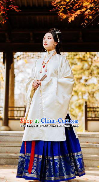 Chinese Traditional Ming Dynasty Princess Historical Costumes Ancient Aristocratic Lady Hanfu Dress for Women