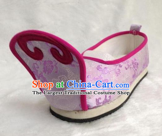 1f26667314f1 Traditional Chinese Wedding Shoes Ancient Princess Shoes Purple Embroidered  Shoes for Women