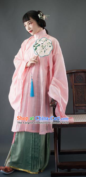 Chinese Traditional Ming Dynasty Nobility Lady Historical Costumes Ancient Palace Princess Hanfu Dress for Women