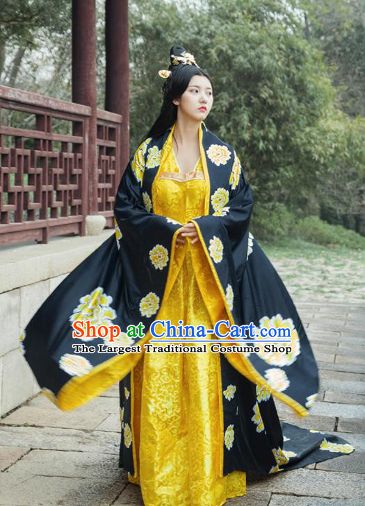 Traditional Chinese Ancient Drama Palace Lady Costumes Tang Dynasty Imperial Consort Hanfu Dress for Women