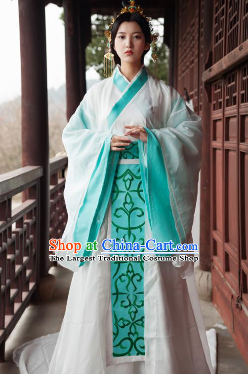 Traditional Chinese Ancient Drama Imperial Consort Costumes Qin Dynasty Queen Hanfu Dress for Women