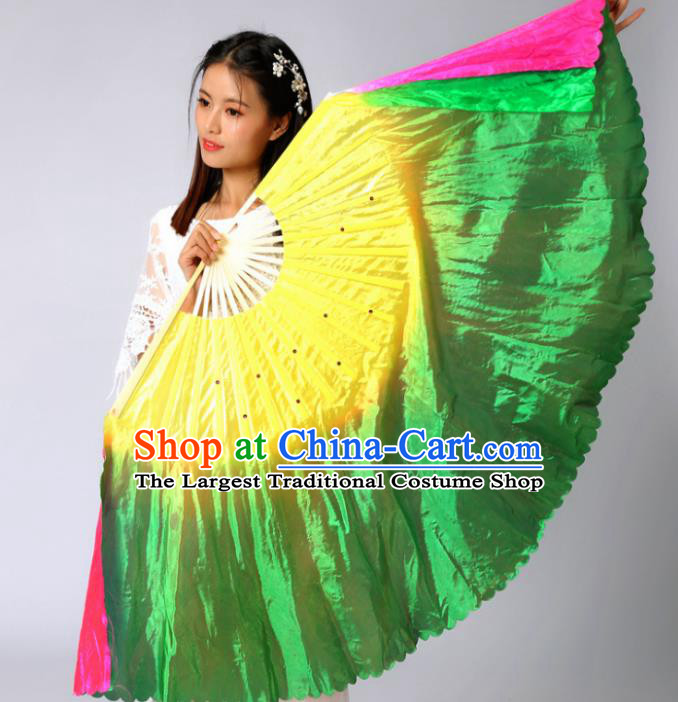Chinese Traditional Folk Dance Props Classical Dance Fans Silk Fans