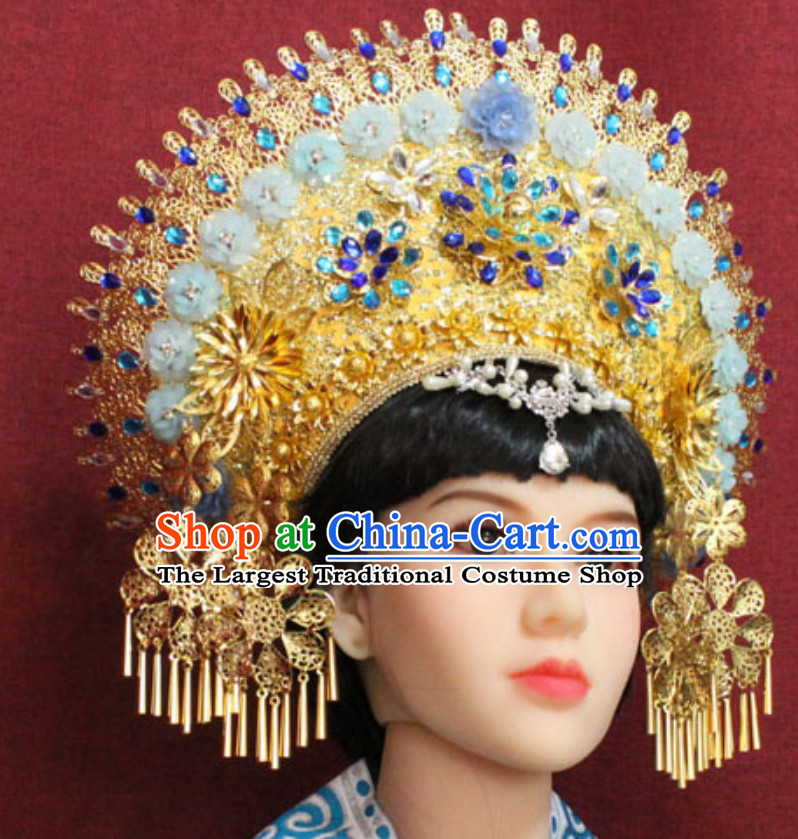 Top Traditional Thailand Empress Hair Jewelry Princess Crown Hat