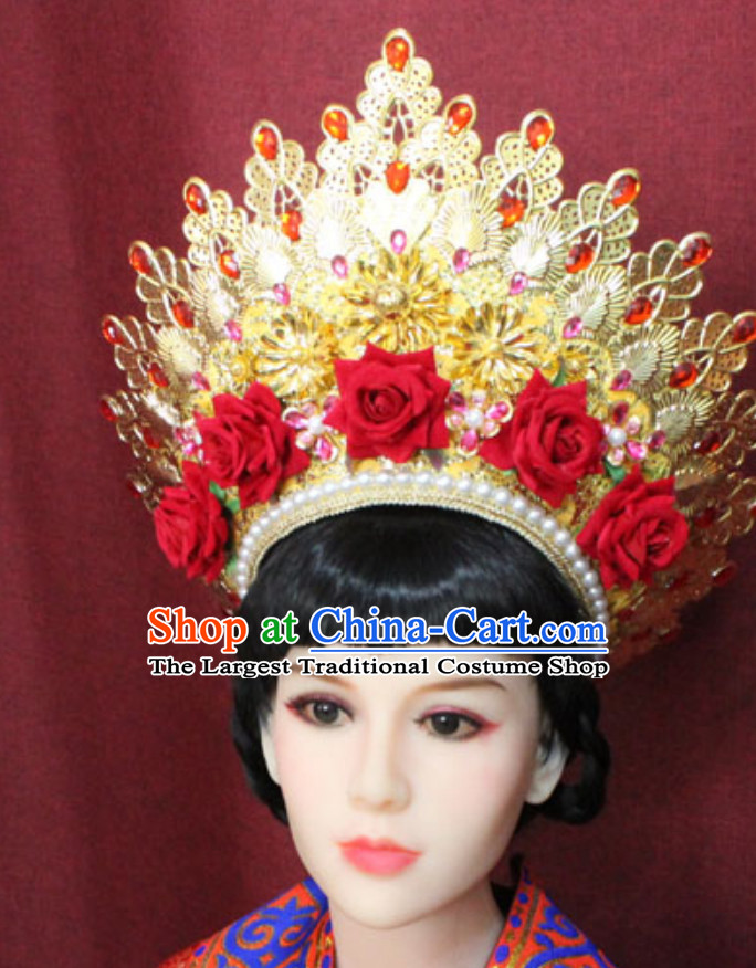 Top Traditional Thailand Empress Imperial Hair Accessories Princess Crown Hat