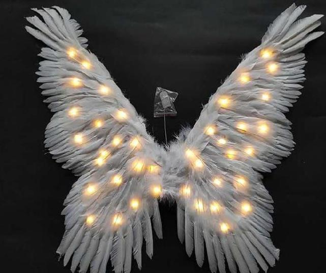 Big Party LED Lights Luminous Big Wings Butterfly Dance Costumes Dancing Costume Complete Set