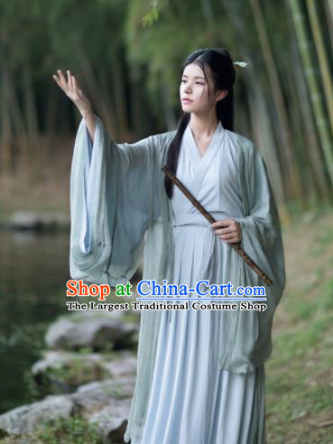 Chinese Jin Dynasty Historical Costumes Ancient Princess Hanfu Dress Complete Set for Women