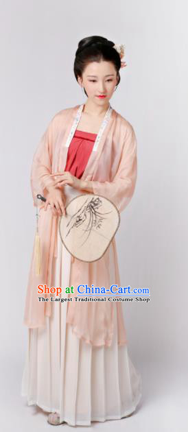 Chinese Song Dynasty Imperial Consort Historical Costumes Ancient Palace Lady Hanfu Dress Complete Set for Women