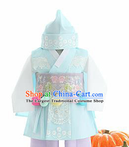 Traditional Korean Hanbok Clothing Asian Korea Boys Fashion Apparel Hanbok Costume and Waistband for Kids