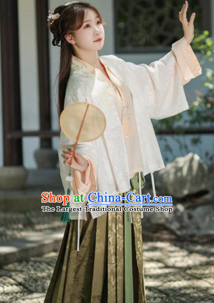 Traditional Chinese Ming Dynasty Court Princess Hanfu Dress Ancient Royal Infanta Historical Costumes for Women