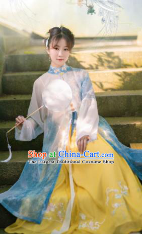 Traditional Chinese Ming Dynasty Nobility Lady Hanfu Dress Ancient Aristocratic Female Historical Costumes for Women