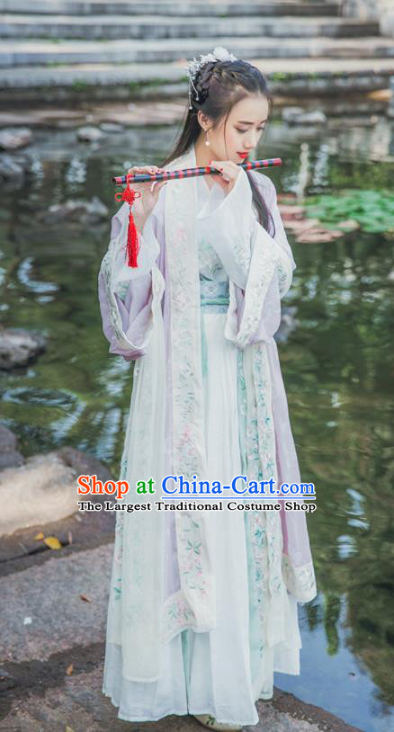 Traditional Chinese Song Dynasty Swordswoman Replica Costumes Ancient Nobility Lady Hanfu Dress for Women