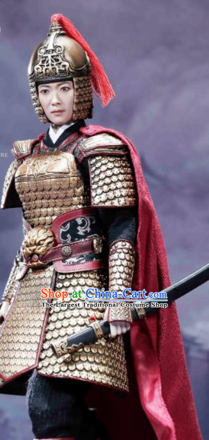 Chinese Ancient Cosplay Female General Armor And Helmet Traditional Song Dynasty Hua Mulan Costumes Complete Set For Women