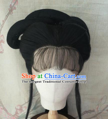 Chinese Traditional Cosplay Beijing Opera Princess Wigs Ancient Nobility Lady Wig Sheath Hair Accessories for Women