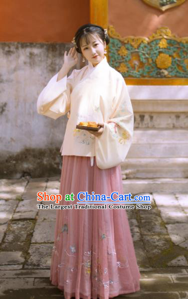 Traditional Chinese Ming Dynasty Replica Costumes Ancient Nobility Lady Hanfu Blouse and Dress for Women