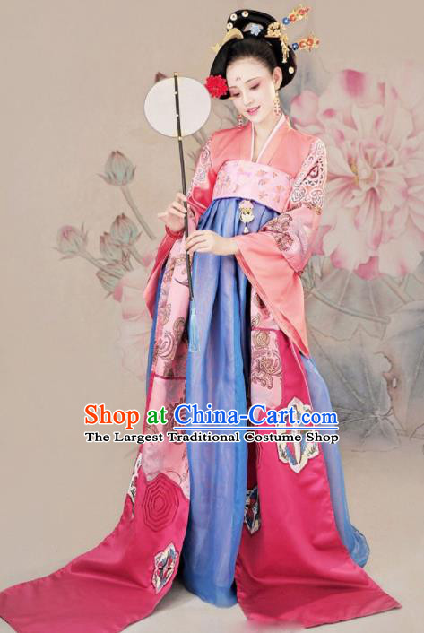 Ancient Chinese Imperial Consort Hanfu Dress Traditional Tang Dynasty Court Queen Historical Costumes for Women