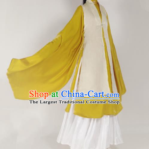 Chinese Ming Dynasty Princess Beige Vest Ancient Court Lady Costume for Women
