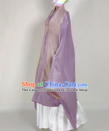Chinese Ming Dynasty Princess Lilac Vest Ancient Court Lady Costume for Women