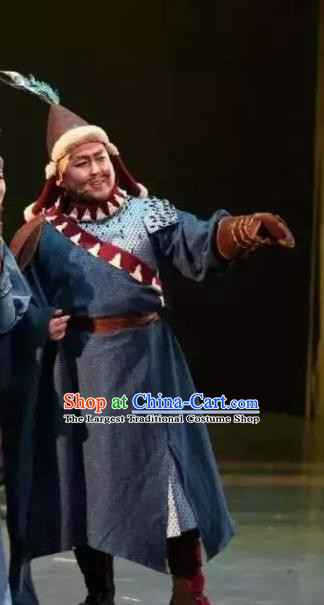 Chinese Zhaojun Chu Sai Ancient Mongol Nationality King Clothing Stage Performance Dance Costume for Men