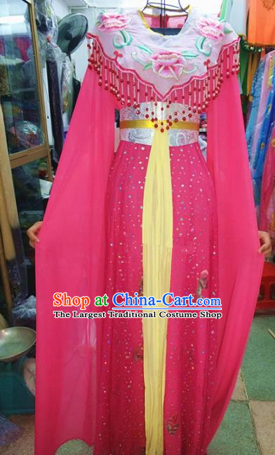 Chinese Traditional Beijing Opera Diva Costume Peking Opera Young Lady Rosy Dress for Adults