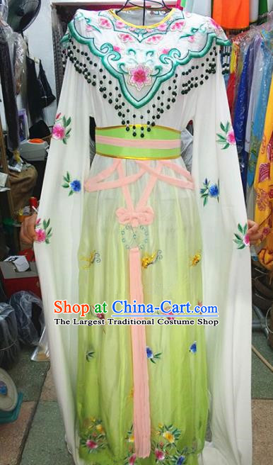 Chinese Traditional Beijing Opera Actress Costume Peking Opera Princess Green Dress for Adults