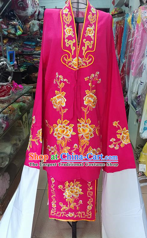 Chinese Traditional Beijing Opera Tsingyi Costume Peking Opera Actress Rosy Dress for Adults
