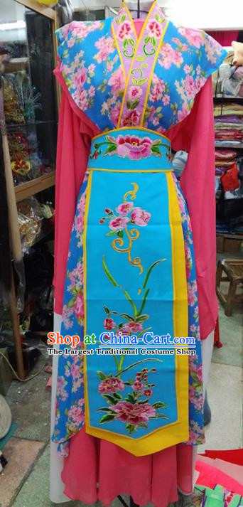Chinese Traditional Beijing Opera Rosy Dress Peking Opera Actress Water Sleeve Costume for Adults