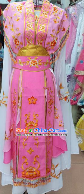 Chinese Traditional Beijing Opera Princess Pink Dress Peking Opera Actress Costume for Adults