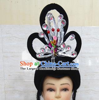 Chinese Traditional Beijing Opera Actress Hair Accessories Ancient Peri Phoenix Hairpins and Wigs for Adults