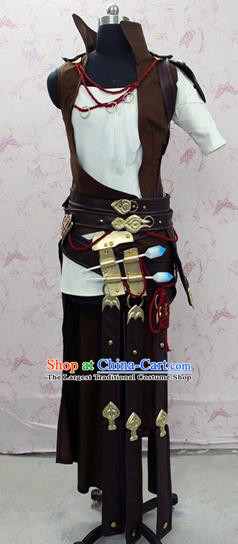 Chinese Ancient Swordsman Costume Traditional Cosplay Young Hero Clothing for Men
