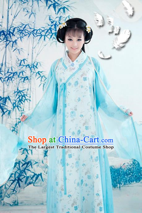 Traditional Chinese Song Dynasty Young Lady Hanfu Dress Ancient Princess Historical Costume for Women