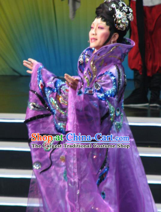 Traditional Chinese Tang Dynasty Imperial Consort Purple Embroidered Dress Ancient Palace Lady Historical Costume
