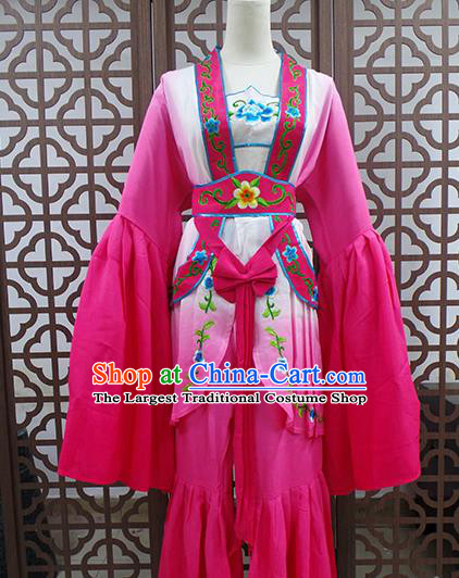 Traditional Chinese Beijing Opera Actress Costume Peking Opera Maidservants Rosy Dress