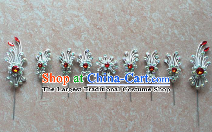 Asian Chinese Beijing Opera Hair Accessories Hair Clip Ancient Princess Hairpins Complete Set for Women