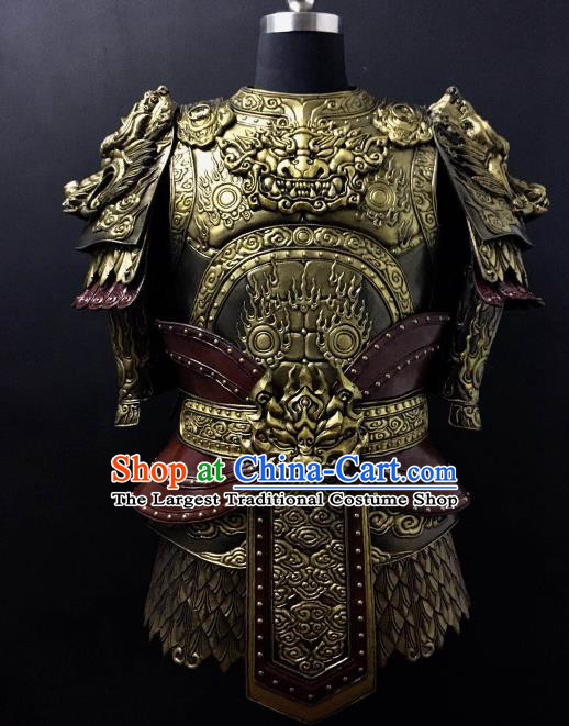 Chinese Han Dynasty Drama Warrior Costume Ancient General Body Armor Complete Set