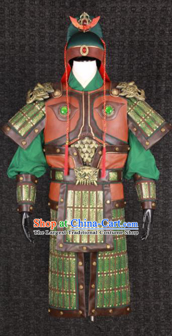 Chinese Song Dynasty Drama Warrior Costume Ancient General Body Armor Complete Set