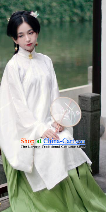 Chinese Ancient Princess White Hanfu Dress Traditional Ming Dynasty Palace Lady Historical Costume for Women