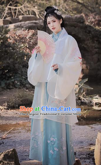 Traditional Chinese Ming Dynasty Princess Replica Costumes Ancient Palace Lady Embroidered Hanfu Dress for Women