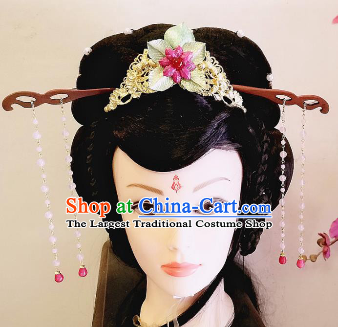 Chinese Ancient Queen Hair Accessories Traditional Hanfu Palace Hairpins Complete Set for Women