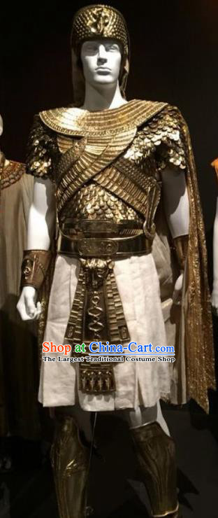 Traditional Egypt General Costume Ancient Egypt Warrior Armor Clothing for Men